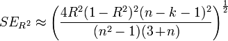 how to find standard error from r squared